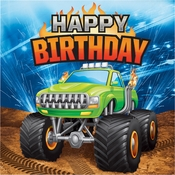Monster Truck Happy Birthday Luncheon Napkins 192 ct