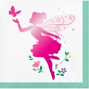 Floral Fairy Sparkle Beverage Napkins 192 ct