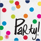 Birthday Dots by French Bull Beverage Napkins 240 ct