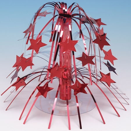 Red Foil Cascading Centerpieces 6 ct