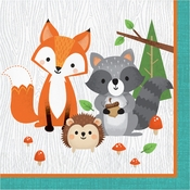 Wild One Woodland Animals Luncheon Napkins 192 ct