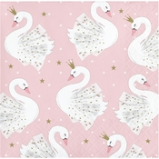 Stylish Swan Beverage Napkins 192 ct