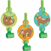 Sloth Party Party Blowers 48 ct