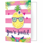 Pineapple Party Invitations 48 ct