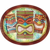 Tiki Time Oval Plates 96 ct