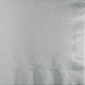 Shimmering Silver Dinner Napkins 3 Ply 250 ct