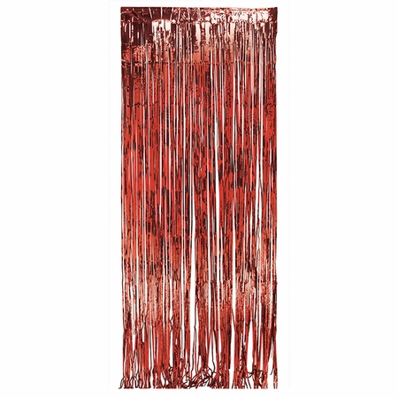 Red Foil Door Curtain 6 ct