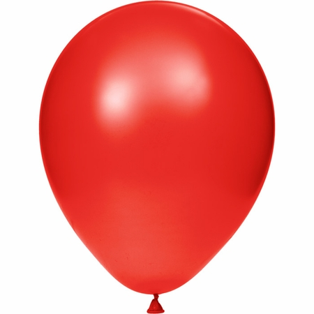 Red Latex Balloons sold in quantities of 15 / pkg, 12 pkgs / case