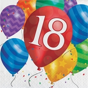 Balloon Blast 18th Birthday Luncheon Napkins 192 ct