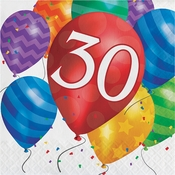 Balloon Blast 30th Birthday Luncheon Napkins 192 ct