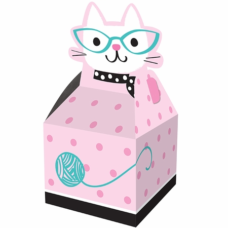 Cat Party Favor Boxes 48 ct