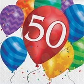Balloon Blast 50th Birthday Luncheon Napkins 192 ct