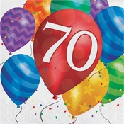 Balloon Blast 70th Birthday Luncheon Napkins 192 ct