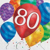 Balloon Blast 80th Birthday Luncheon Napkins 192 ct