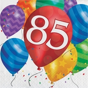 Balloon Blast 85th Birthday Luncheon Napkins 192 ct