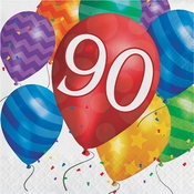Balloon Blast 90th Birthday Luncheon Napkins 192 ct