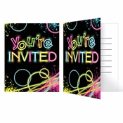 Glow Party Invitations 48 ct