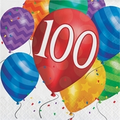 Balloon Blast 100th Birthday Luncheon Napkins 192 ct