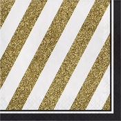 Black and Gold Luncheon Napkins 192 ct