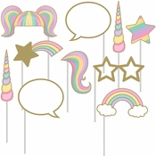 Sparkle Unicorn Photo Booth Props 60 ct