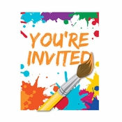 Art Party Invitations 48 ct