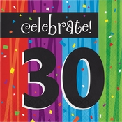 Milestone Celebrations 30th Birthday Luncheon Napkins 192 ct