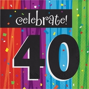 Milestone Celebrations 40th Birthday Luncheon Napkins 192 ct