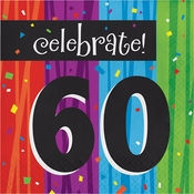 Milestone Celebrations 60th Birthday Luncheon Napkins 192 ct