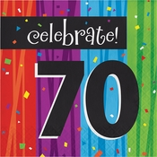 Milestone Celebrations 70th Birthday Luncheon Napkins 192 ct