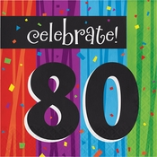Milestone Celebrations 80th Birthday Luncheon Napkins 192 ct