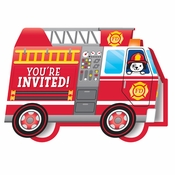 Fire Truck Invitations 48 ct
