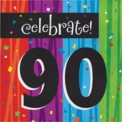 Milestone Celebrations 90th Birthday Luncheon Napkins 192 ct