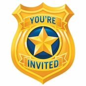 Police Party Invitations 48 ct