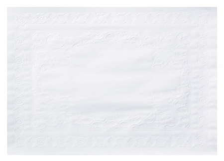 Classic Embossed Straight Edge Traymat sold in quantities of 1,000 per case