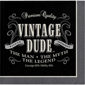 Vintage Dude Beverage Napkins 192 ct