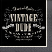 Vintage Dude Luncheon Napkins 192 ct