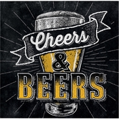 Cheers and Beers Beverage Napkins 192 ct