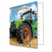 Tractor Time Invitations 48 ct