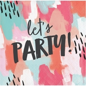 Brush Strokes Lets Party Beverage Napkins 288 ct