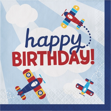 Toy Airplane Birthday Luncheon Napkins 192 ct