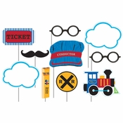 All Aboard Train Photo Booth Props 60 ct