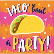 Fiesta Fun Taco Beverage Napkins 192 ct