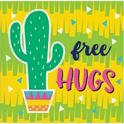 Fiesta Fun Cactus Beverage Napkins 192 ct