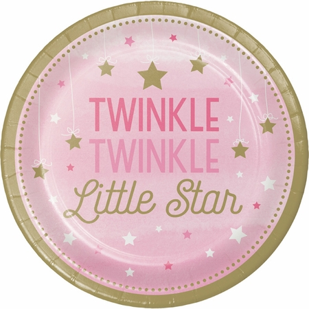 One Little Star Girl Dessert Plates 96 ct