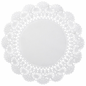 "12"" White Cambridge Lace Glassine Doilies 1,000 ct"