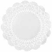 "White Cambridge Lace Doily - 4"" 10,000 ct."