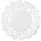 "White Cambridge Lace Doily - 5"" 10,000 ct."