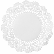 "White Cambridge Lace Doily - 6"" 10,000 ct."