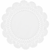 "White Cambridge Lace Doily - 8"" 6,000 ct."