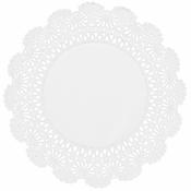 "White Cambridge Lace Doily - 10"" 6,000 ct."